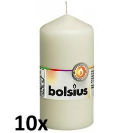 10 stuks ivoor stompkaarsen 120/60 van Bolsius extra goedkoop in een voordeel verpakking