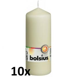 10 stuks ivoor stompkaarsen 150/60 van Bolsius extra goedkoop in een voordeel verpakking