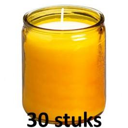 30 stuks Bolsius amber starlight terraskaarsen