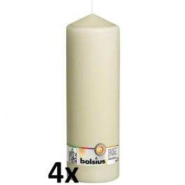 4 stuks ivoor stompkaarsen 300/100 van Bolsius extra goedkoop in een voordeel verpakking