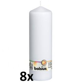8 stuks wit stompkaarsen 250/80 van Bolsius extra goedkoop in een voordeel verpakking