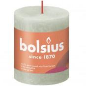 Bolsius lichtgroen rustiek stompkaars 80/68 (35 uur) Eco Shine Foggy Green