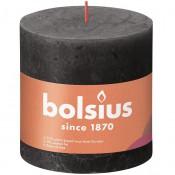 Bolsius antraciet rustiek stompkaars 100/100 (62 uur) Eco Shine Stormy Grey