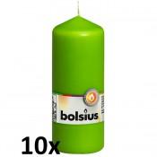 10 stuks lime groen stompkaarsen 150/60 van Bolsius extra goedkoop in een voordeel verpakking