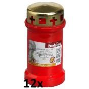 12 stuks rode Bolsius graflichten nr. 3 met deksel in een voordeel verpakking