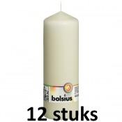12 stuks Bolsius stompkaarsen ivoor 170/68