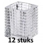12 stuks Bolsius glazen relight kaarsen houders 98/96
