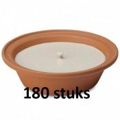 Terracotta vlamschaal tuinkaars ivoor - wit 16 branduren 65/230