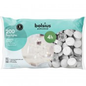 200 stuks Bolsius professional witte 4-uurs waxinelichtjes in Horeca zak