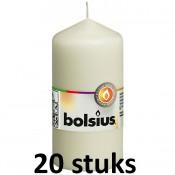 20 stuks Bolsius stompkaarsen ivoor 100/50