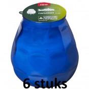 6 stuks blauw Bolsius twilight terraskaarsen 104/99