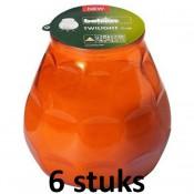 6 stuks oranje Bolsius twilight terraskaarsen 104/99