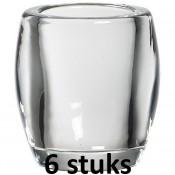 6 stuks Bolsius ovale relight glazen 77/72