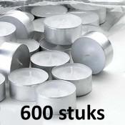 6 zakken met 100 stuks witte 6 uur waxinelichten van uitstekende kwaliteit 18/38