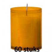 Refill kaarsen amber 60 stuks