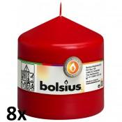 8 stuks rood stompkaarsen 100/100 van Bolsius extra goedkoop in een voordeel verpakking