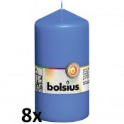 8 stuks blauw stompkaarsen 130/70 van Bolsius extra goedkoop in een voordeel verpakking