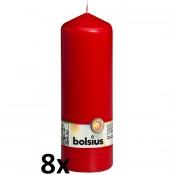 8 stuks rood stompkaarsen 200/70 van Bolsius extra goedkoop in een voordeel verpakking