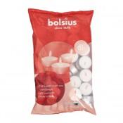 Bolsius witte 6-uurs mvo waxinelichtjes 60 stuks in zak