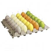 Bolsius eikaarsen in assorti grijs, ivoor, geel, oranje, lime groen