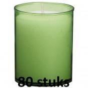 80 stuks Bolsius relight kaars in lime groen kunststof kaarsenhouder