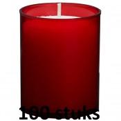 100 stuks Bolsius relight kaars in rood kunststof kaarsenhouder