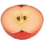 Rode appel halve bol geurkaars 50/100 (27 uur)