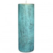 Turquoise loft rustiek stompkaars 200/70