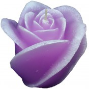 Roze roos figuurkaars met rozen geur