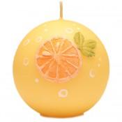Sinaasappel bol geurkaars 80 mm (38 uur)