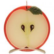 Rode appel ronde geurkaars 150/145/12 op standaard (5 uur)