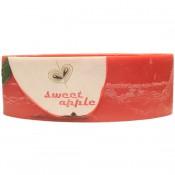 Rode appel geurdende ovale wax windlicht 95/125/270 (incl. 2 stuks 3 uurs theelichten)