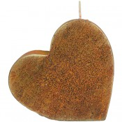 Terracotta loft rustiek hart kaars 135/135/40