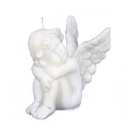 Witte engel figuurkaars nr. 4