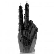 Zwart Metallic Zombie Hand PEACE